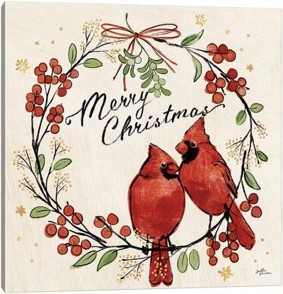 Christmas Lovebirds XII Canvas Art Print