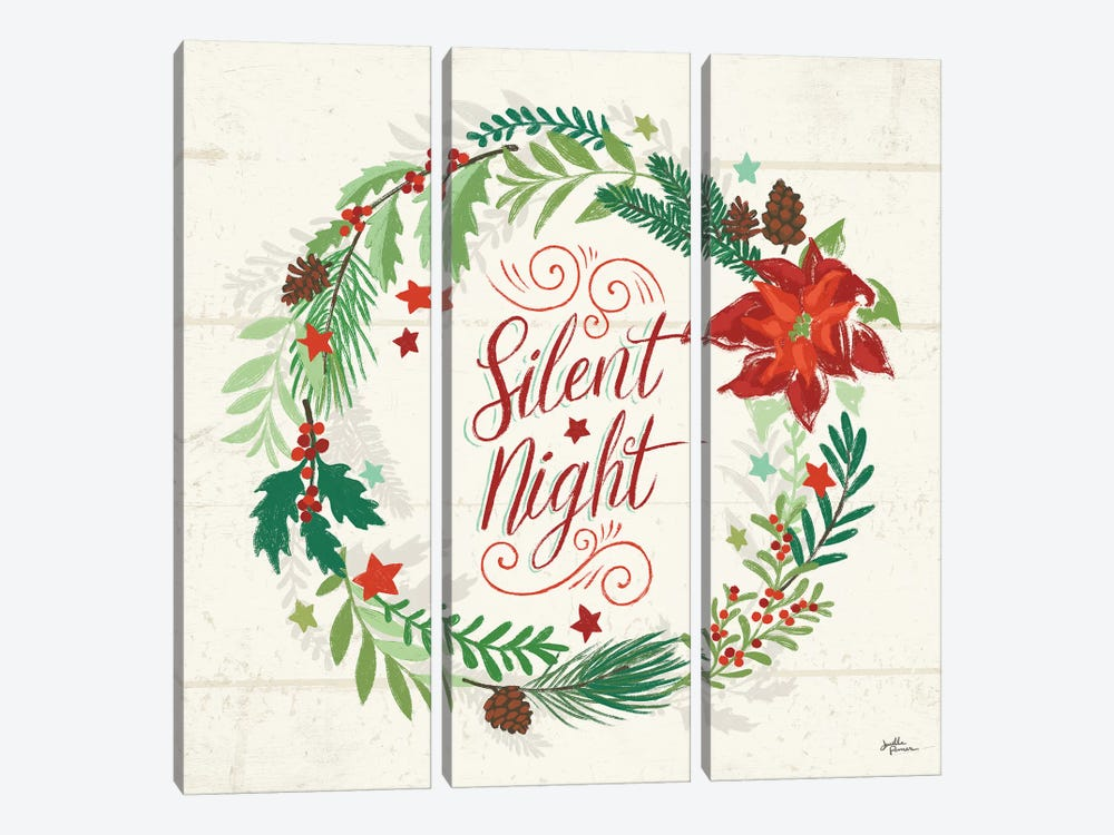 Holiday Joy IV by Janelle Penner 3-piece Canvas Print