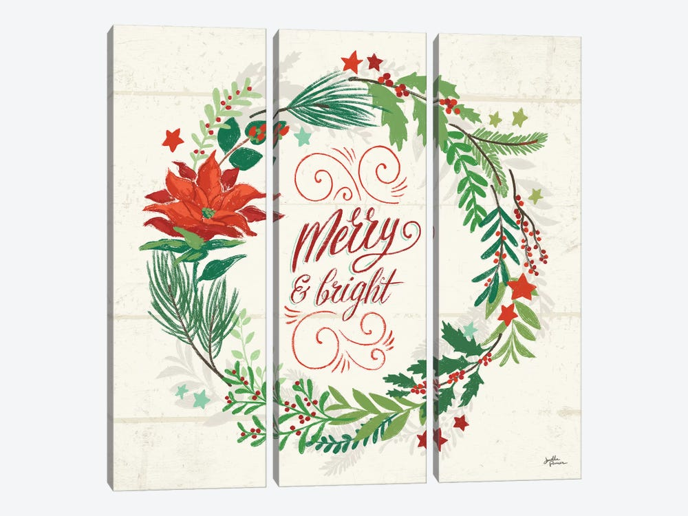 Holiday Joy VI by Janelle Penner 3-piece Canvas Art Print