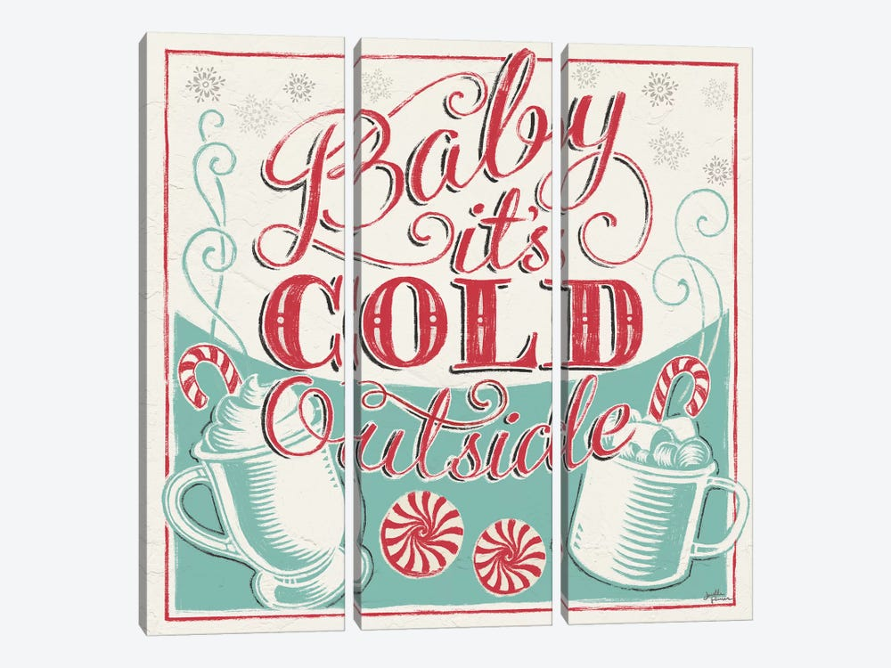 Merry Little Christmas II by Janelle Penner 3-piece Canvas Art Print