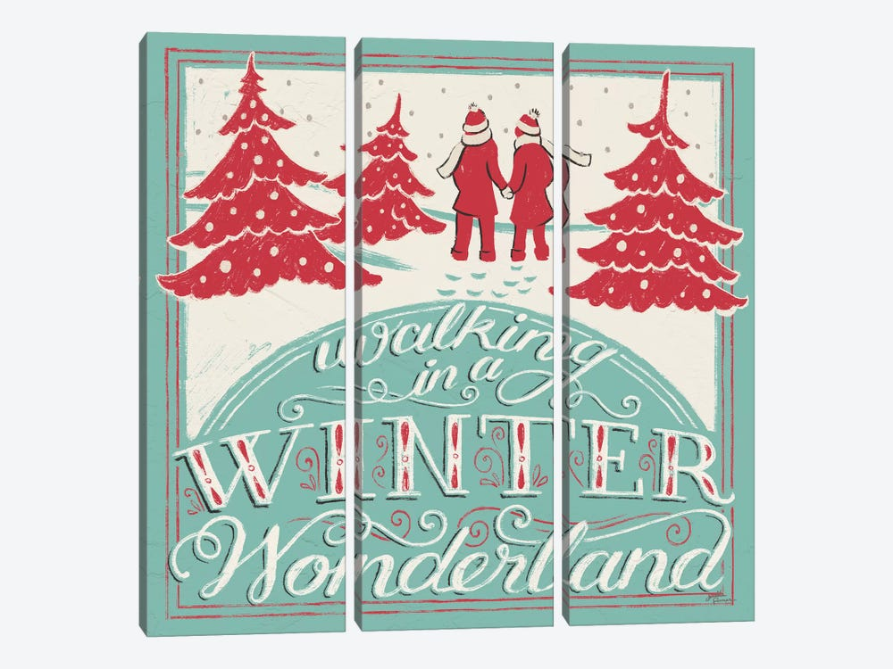 Merry Little Christmas III by Janelle Penner 3-piece Canvas Artwork
