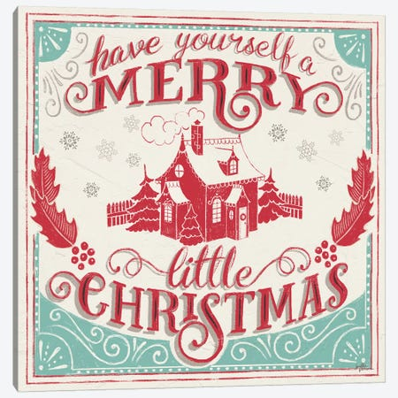 Merry Little Christmas V Canvas Print #JAP118} by Janelle Penner Canvas Wall Art