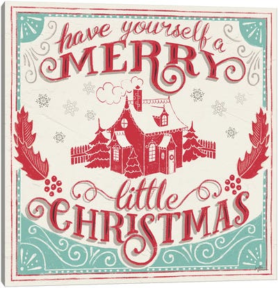 Merry Little Christmas V Canvas Art Print