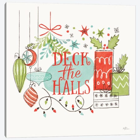 Retro Christmas III Canvas Print #JAP120} by Janelle Penner Canvas Art Print