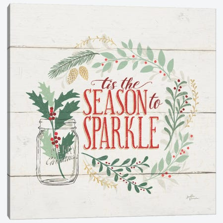 Seasons Greetings IV 3-Piece Canvas #JAP125} by Janelle Penner Canvas Artwork