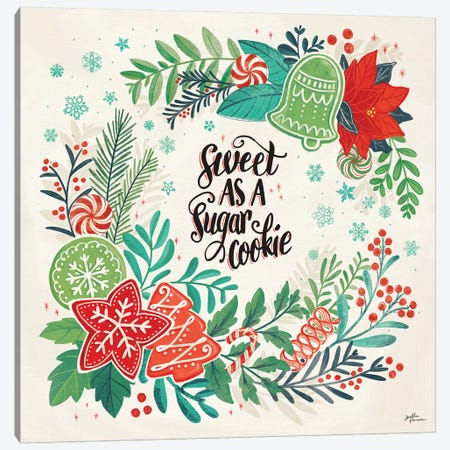 Sweet Christmas IV Canvas Print #JAP130} by Janelle Penner Canvas Wall Art