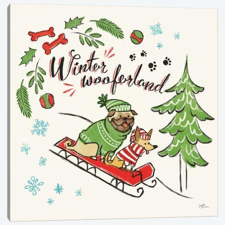 Winter Wooferland V Canvas Print #JAP135} by Janelle Penner Canvas Art Print