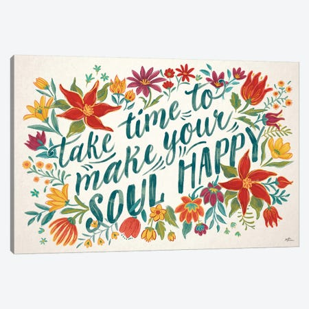 Happy Thoughts I 3-Piece Canvas #JAP136} by Janelle Penner Canvas Print