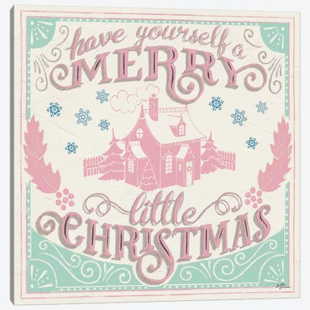 Merry Little Christmas V Vintage Canvas Print #JAP144} by Janelle Penner Canvas Artwork