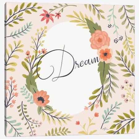 Retro Garden II Pale Blush Dream Canvas Print #JAP146} by Janelle Penner Canvas Wall Art