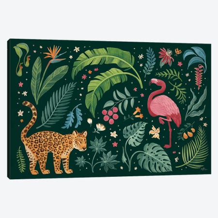 Jungle Love II Canvas Print #JAP159} by Janelle Penner Canvas Wall Art