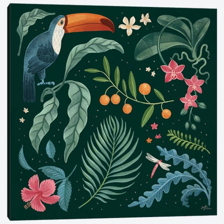 Jungle Love III Canvas Print #JAP160} by Janelle Penner Art Print