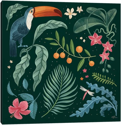 Jungle Love III Canvas Art Print