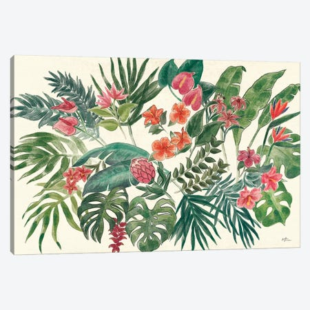 Jungle Vibes VI Leaves Canvas Print #JAP166} by Janelle Penner Canvas Artwork