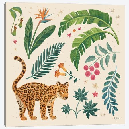 Jungle Love IV Cream Canvas Print #JAP168} by Janelle Penner Canvas Print