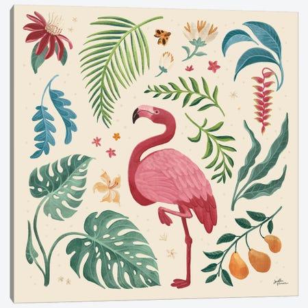 Jungle Love VI Cream Canvas Print #JAP170} by Janelle Penner Canvas Art