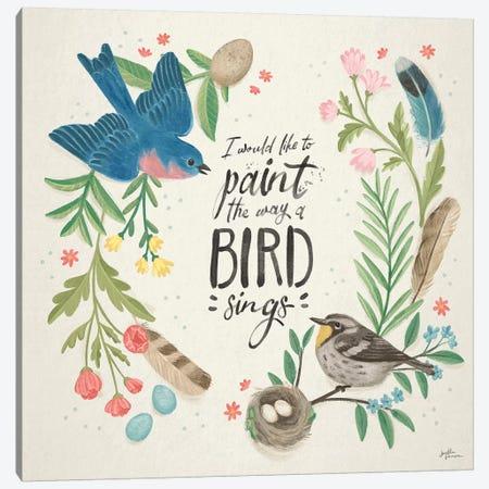 Bird Study V Canvas Print #JAP180} by Janelle Penner Canvas Art Print