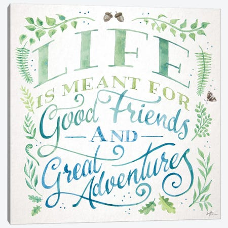 Good Friends and Great Adventures I Canvas Print #JAP181} by Janelle Penner Canvas Art Print
