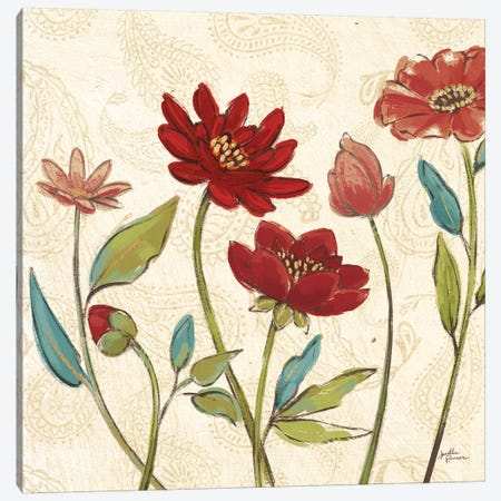 Red Gold Beauties I Crop 3-Piece Canvas #JAP186} by Janelle Penner Canvas Art