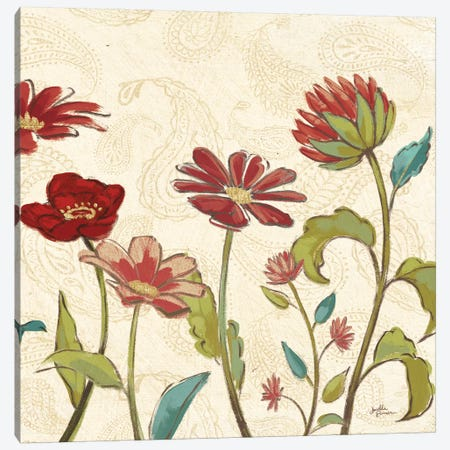 Red Gold Beauties II Crop 3-Piece Canvas #JAP187} by Janelle Penner Canvas Wall Art