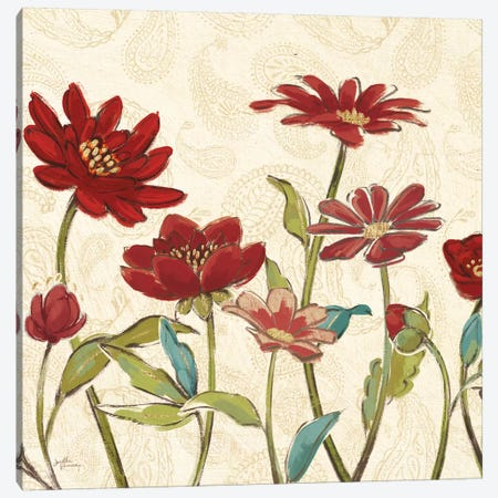 Red Gold Beauties III Crop Canvas Print #JAP188} by Janelle Penner Canvas Art Print