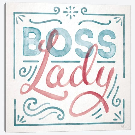 Boss Lady I Canvas Print #JAP190} by Janelle Penner Canvas Wall Art