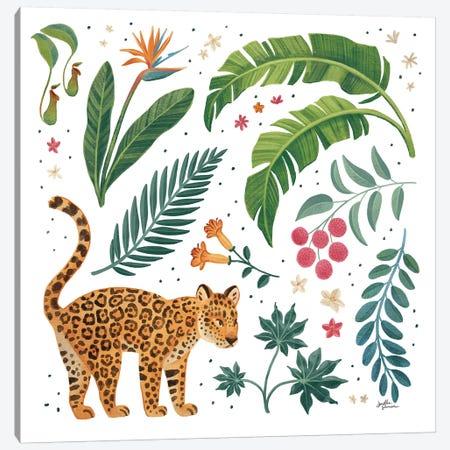 Jungle Love IV White 3-Piece Canvas #JAP197} by Janelle Penner Canvas Print