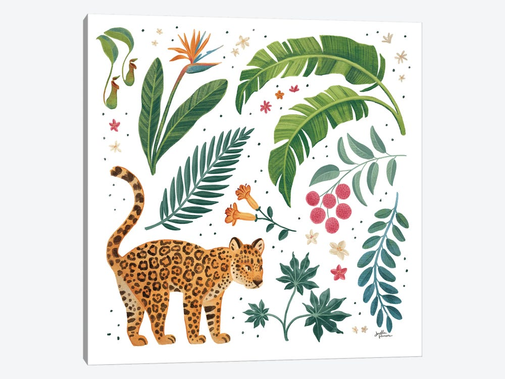 Jungle Love IV White by Janelle Penner 1-piece Art Print
