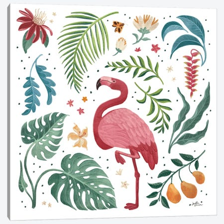 Jungle Love VI White Canvas Print #JAP199} by Janelle Penner Canvas Wall Art