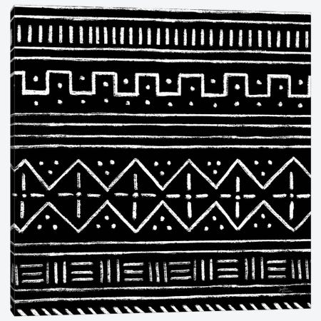 Jungle Love Pattern V Sq II BW Canvas Print #JAP206} by Janelle Penner Canvas Art Print