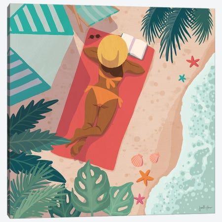 Beach Babes I Canvas Print #JAP208} by Janelle Penner Canvas Artwork