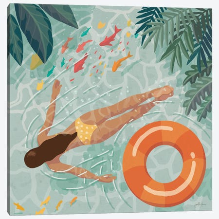 Beach Babes IV Canvas Print #JAP211} by Janelle Penner Art Print