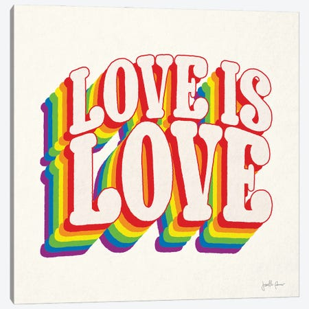 Love is Love I Canvas Print #JAP223} by Janelle Penner Canvas Wall Art