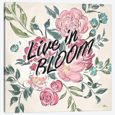 Live in Bloom II Canvas Print #JAP27} by Janelle Penner Canvas Wall Art