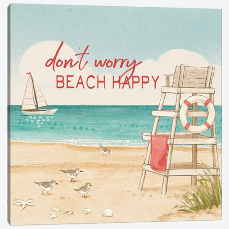 Beach Time III Canvas Print #JAP3} by Janelle Penner Art Print