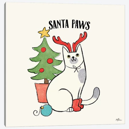 Santa Paws V Canvas Print #JAP40} by Janelle Penner Canvas Art Print