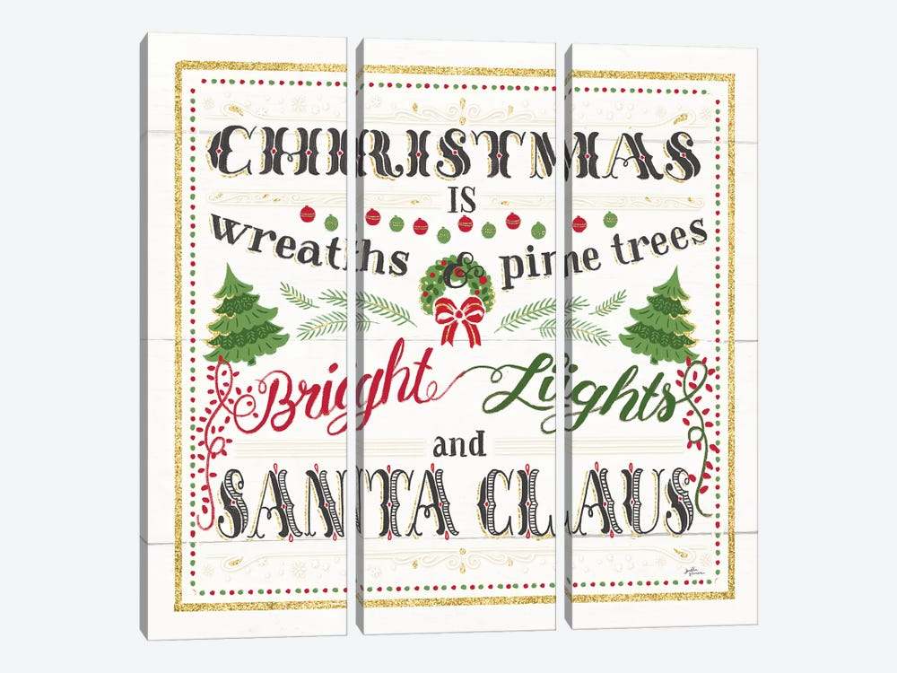 Christmas Is by Janelle Penner 3-piece Canvas Print