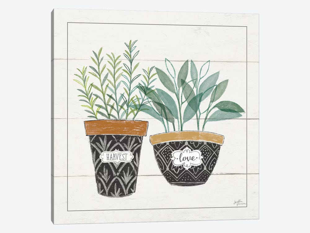 Fine Herbs IV Love by Janelle Penner 1-piece Canvas Art Print