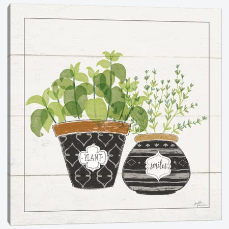 Fine Herbs V Smiles Canvas Print #JAP50} by Janelle Penner Canvas Wall Art