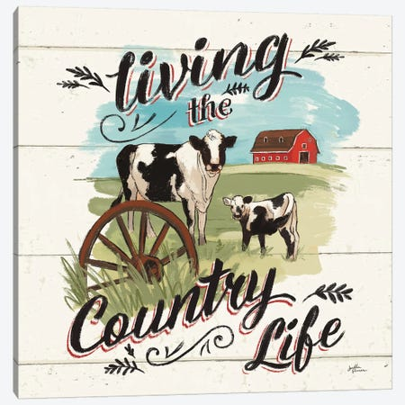 Farm Life II Country Canvas Print #JAP69} by Janelle Penner Art Print