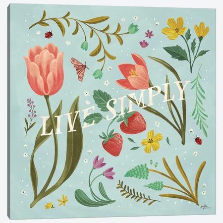 Spring Botanical VI Canvas Print #JAP78} by Janelle Penner Canvas Artwork