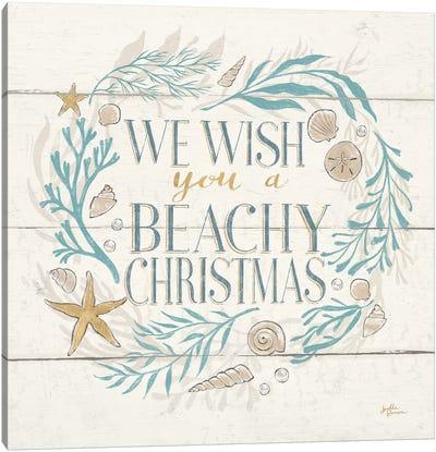 Golden Sea VI Holiday Canvas Art Print