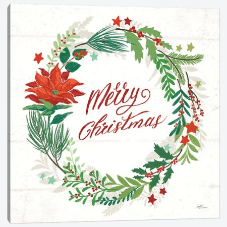 Holiday Joy I Merry Christmas Canvas Print #JAP82} by Janelle Penner Canvas Print