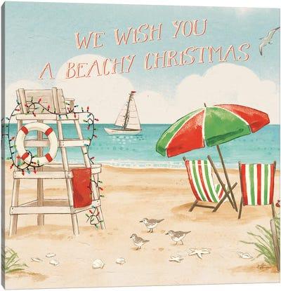 Beach Time I Christmas Canvas Art Print