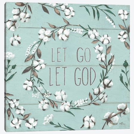 Blessed VII - Let Go, Let God Canvas Print #JAP8} by Janelle Penner Canvas Art Print