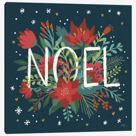 Christmas Bloom VII Canvas Print #JAP91} by Janelle Penner Canvas Art