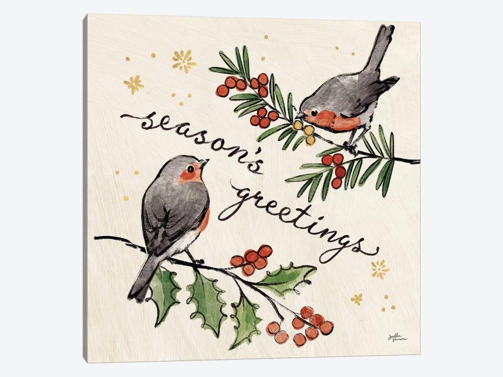 Christmas Lovebirds III by Janelle Penner 1-piece Canvas Art