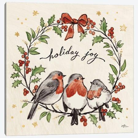 Christmas Lovebirds IV Canvas Print #JAP96} by Janelle Penner Canvas Print