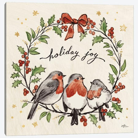 Christmas Lovebirds IV Canvas Print #JAP96} by Janelle Penner Canvas Print