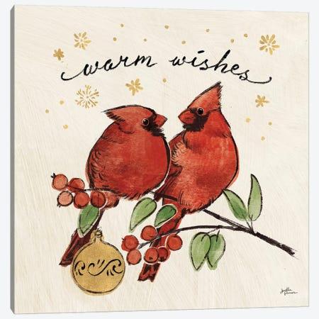 Christmas Lovebirds IX Canvas Print #JAP97} by Janelle Penner Canvas Art Print